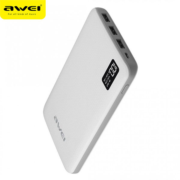 Power Bank AWEI P56K 30000mAh (White)