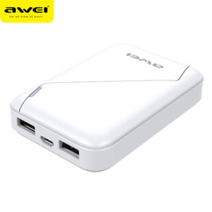 Power Bank AWEI P61K 7800mAh (White)