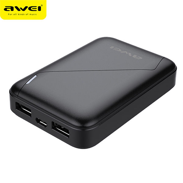 Power Bank AWEI P61K 7800mAh (Black)