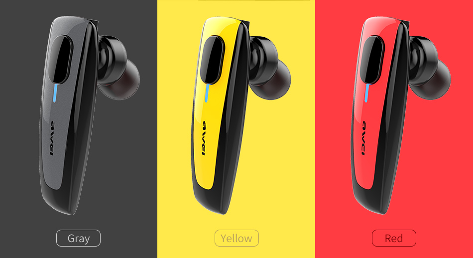 AWEI N3 Wireless Smart Business Bluetooth Headset Three Colors Available