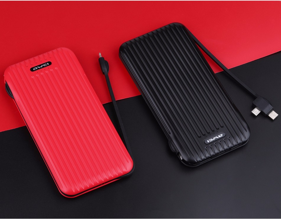 AWEI P80K Power Bank 10000mAh Black and Red