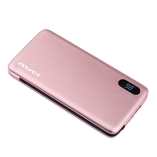 Power Bank AWEI P65K 16000mAh (Pink) Back side