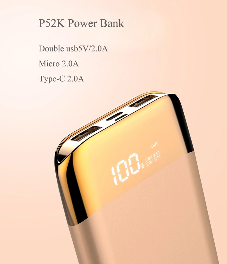 AWEI P52K POWER BANK 10000mAh Три интерфейса подключения: USB, MicroUSB, Lightning