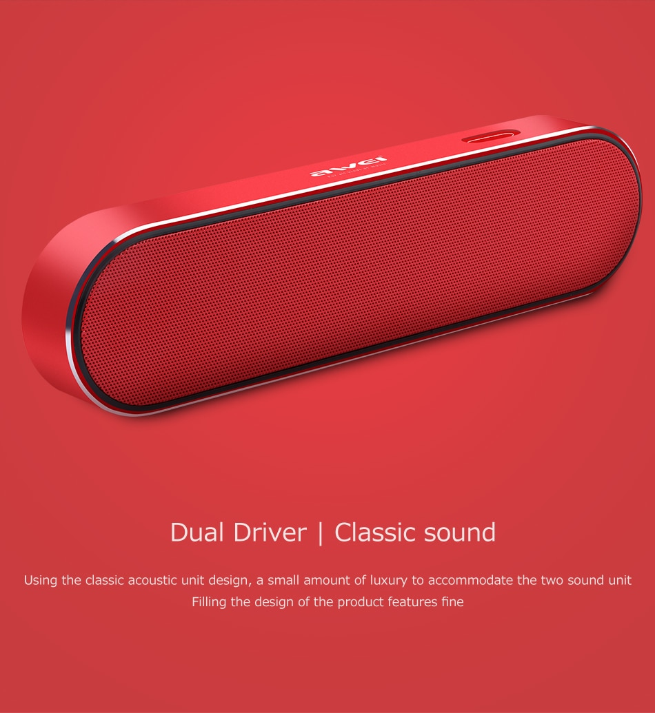 AWEI Y220 Portable bluetooth speaker Dual driver Classic sound