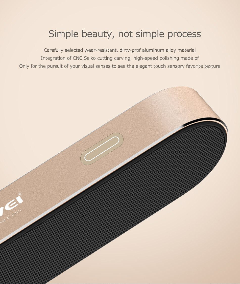 portable wireless speaker AWEI Y220 Simple beauty not simple process