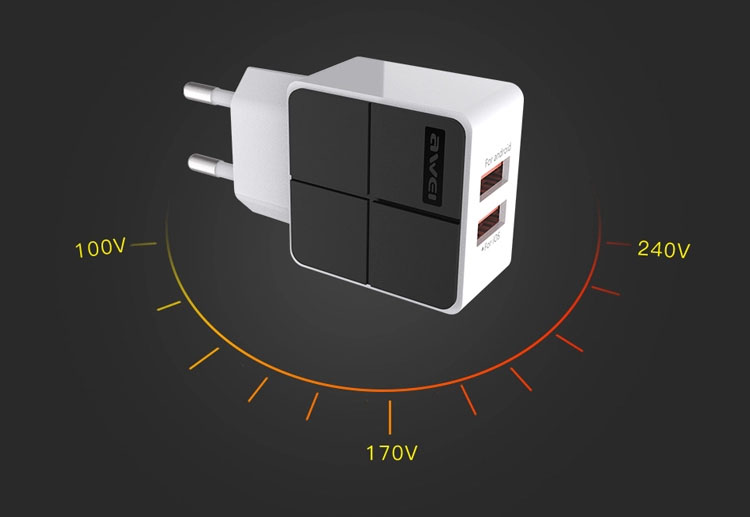 AWEI C-500 Travel Charger Input Voltage AC 100-240v