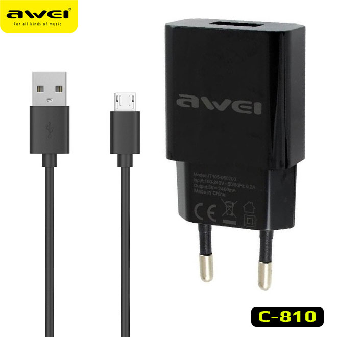 AWEI C-810 Travel Charger Quick charge 2.4A