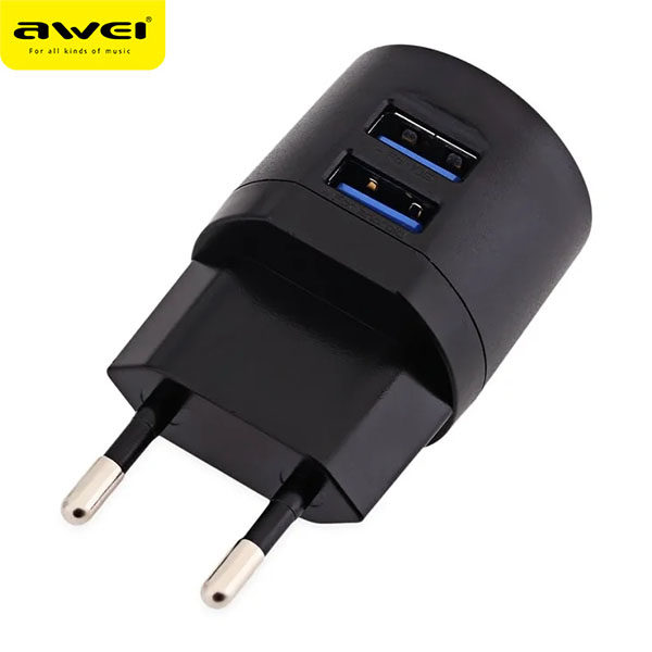 Travel Charger AWEI C-900 (Black)
