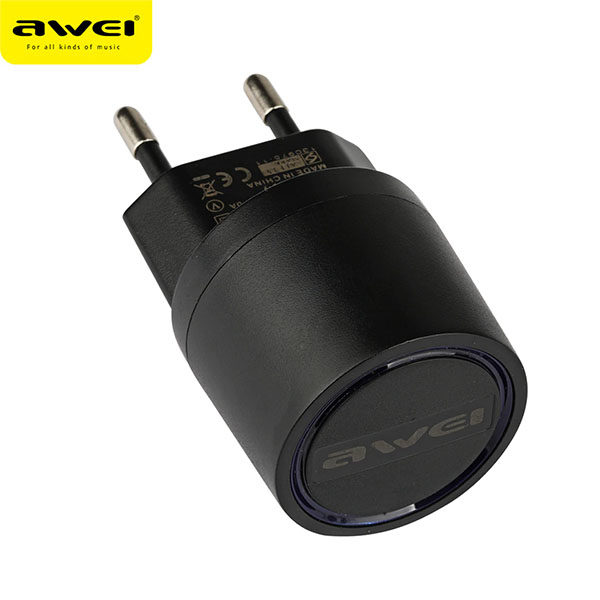 Travel Charger AWEI C-900 (Black) pic-3