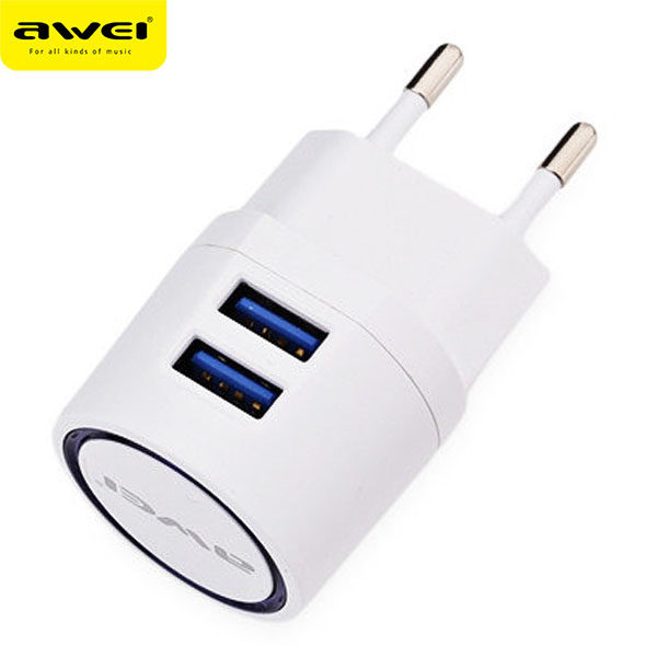 Travel Charger AWEI C-900 (White)