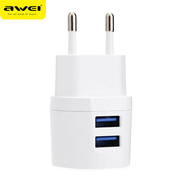 Travel Charger AWEI C-900 (White) pic-6
