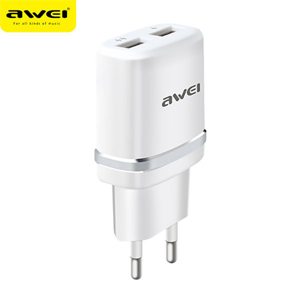 Travel Charger C-930 (White-Silver)