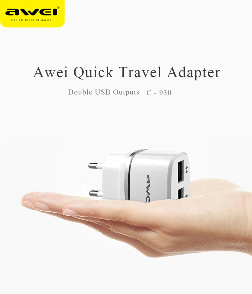 awei c-930 quick travel adapter